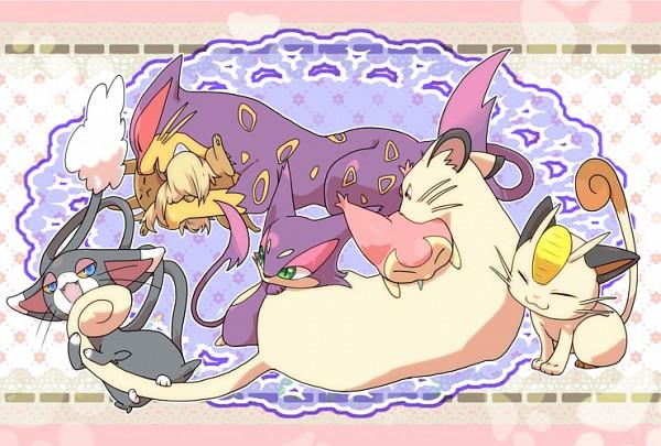 Tags: Anime, Pixiv Id 1440486, Pokémon, Purrloin, Skitty, Glameow, Eevee, Liepard, Meowth, Persian, Pixiv, Fanart From Pixiv, Fanart
