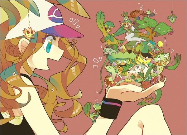 Tags: Anime, Pixiv Id 1481702, Pokémon, Victreebel, Whimsicott, Meganium, Cherrim, Treecko, Cherubi, Torterra, Touko (Pokémon), Wormadam, Roselia