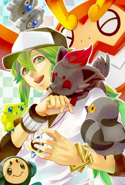 Tags: Anime, Pixiv Id 3246784, Pokémon, Joltik, Zorua, Darmanitan, N (Pokémon), Pidove, Tympole, Klink, Mobile Wallpaper, Pixiv, Fanart From Pixiv