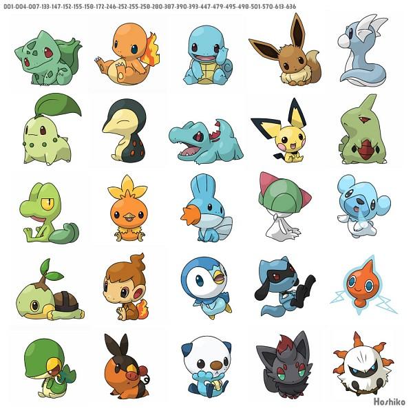 Tags: Anime, Ditb, Pokémon, Zorua, Pichu, Mudkip, Riolu, Cubchoo, Totodile, Chimchar, Snivy, Squirtle, Turtwig