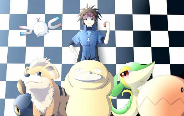 Tags: Anime, Pixiv Id 4118830, Pokémon, Growlithe, Trapinch, Psyduck, Roggenrola, Kyouhei, Magnemite, Snivy, Pixiv, Fanart From Pixiv, Fanart