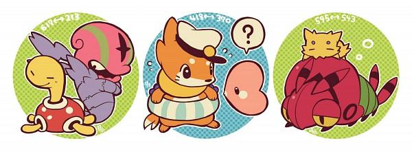 Tags: Anime, Pixiv Id 334677, Pokémon, Luvdisc, Venipede, Shuckle, Accelgor, Joltik, Buizel, Pixiv, Fanart, Fanart From Pixiv