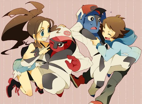 Tags: Anime, Pixiv Id 767887, Pokémon, Touya (Pokémon), Throh, Sawk, Touko (Pokémon), Pixiv, Fanart From Pixiv, Fanart