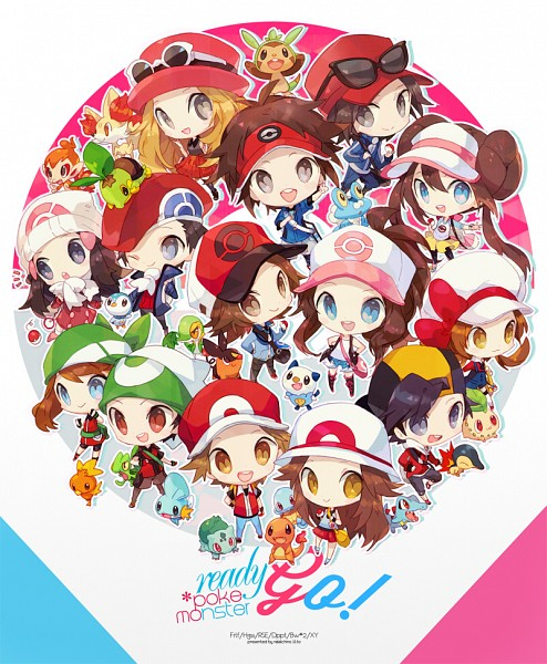 Tags: Anime, Welchino, Pokémon Black & White, Pokémon Diamond & Pearl, Pokémon Gold & Silver, Black and White 2, Pokémon Ruby & Sapphire, Pokémon Red & Green, Pokémon X & Y, Pokémon, Hikari (Pokémon), Kotone (Pokémon), Kyouhei
