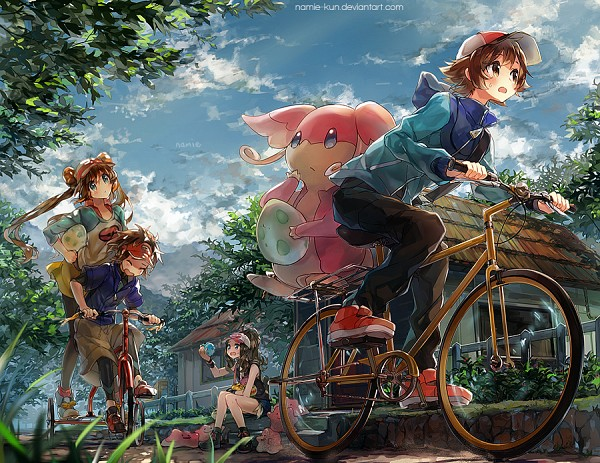 Tags: Anime, Namie-kun, Pokémon, Touko (Pokémon), Ditto, Audino, Mei (Pokémon), Kyouhei, Touya (Pokémon), Incense Burner, Fanart, deviantART, Pixiv