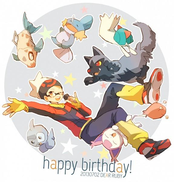 Tags: Anime, Pixiv Id 909811, Pokémon, Skitty, Poochyena, Castform, Yuuki (Pokémon), Ralts, Mudkip, Feebas, Fanart, Pixiv