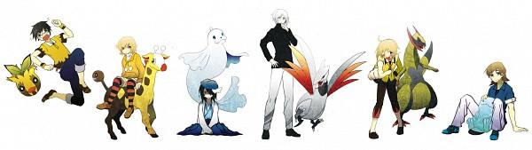 Tags: Anime, Pixiv Id 43409, Pokémon, Dewgong, Quagsire, Haxorus, Sunkern, Girafarig, Skarmory, Pixiv, Fanart, Fanart From Pixiv