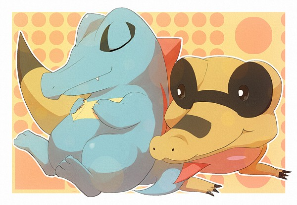Tags: Anime, Pixiv Id 1927012, Pokémon, Sandile, Totodile, Fanart From Pixiv, Fanart, Pixiv