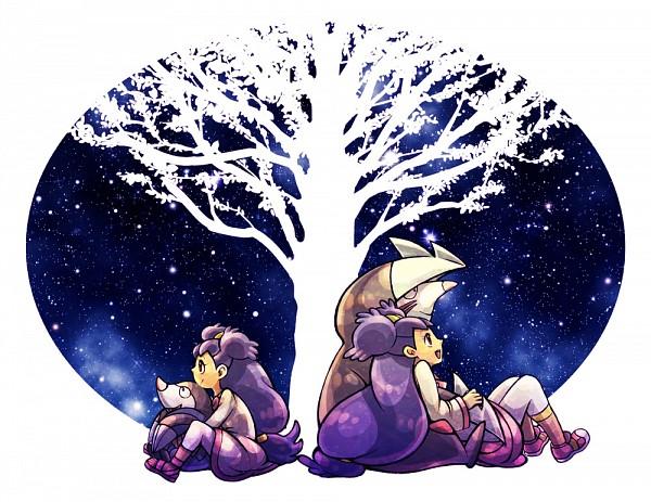 Tags: Anime, Pixiv Id 14616, Pokémon, Iris (Pokémon), Excadrill, Drilbur, Pixiv, Fanart From Pixiv, Fanart