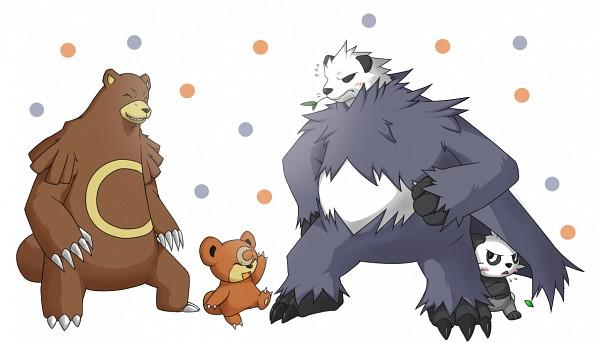 Tags: Anime, Pixiv Id 1090783, Pokémon, Ursaring, Teddiursa, Pangoro, Pancham, Pixiv, Fanart From Pixiv, Fanart