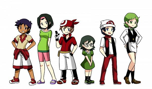 Tags: Anime, Maimai97, Pokémon, Hikari (Pokémon), Masato (Pokémon), Iris (Pokémon), Dento (Pokémon), Haruka (Pokémon), Kenji (Pokémon), deviantART, Wallpaper