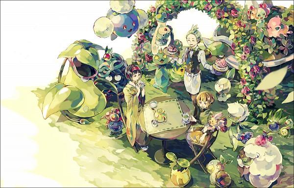 Tags: Anime, Yuuichi Bobobo, Pokémon, Budew, Hoppip, Dento (Pokémon), Victreebel, Swadloon, Torterra, Bellossom, Sunkern, Whimsicott, Natane (Pokémon)