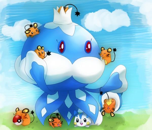 Tags: Anime, Pixiv Id 2011164, Pokémon, Jellicent, Pachirisu, Dedenne, Fanart, Fanart From Pixiv, Pixiv