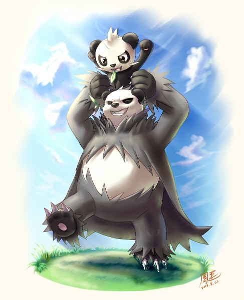 Tags: Anime, Pixiv Id 3512498, Pokémon, Pangoro, Pancham, Pixiv, Fanart, Fanart From Pixiv