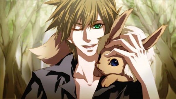 Tags: Anime, Yutifa*47, Pokémon, Eevee, Green (Pokémon), Facebook Cover