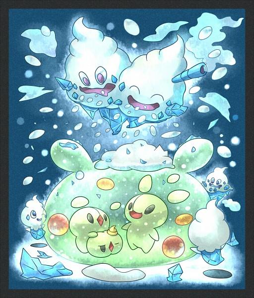 Tags: Anime, Pixiv Id 2640126, Pokémon, Vanillite, Reuniclus, Vanilluxe, Vanillish, Solosis, Duosion, Pixiv, Fanart, Fanart From Pixiv