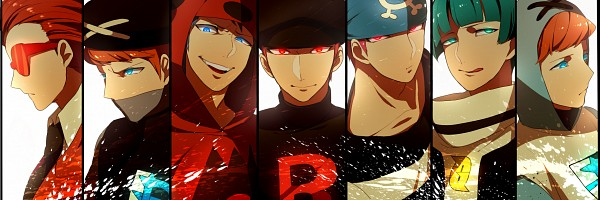 Tags: Anime, Onuko (Pixiv1861313), Pokémon, Team Galactic Underling (Male), Team Rocket Underling (Male), Plasma-dan Shitappa (Male), Team Magma Underling, Flare-dan Shitappa (Male), Team Aqua Underling (Male), Observing, Twitter Header, Pixiv, Fanart