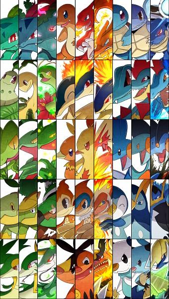 Tags: Anime, Amastroph, Pokémon, Chimchar, Chikorita, Charmeleon, Feraligatr, Grovyle, Greninja, Piplup, Monferno, Turtwig, Pignite
