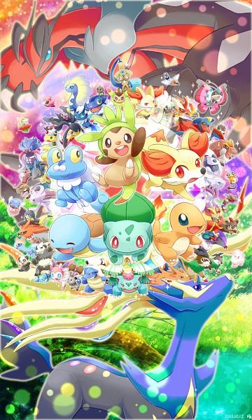 Tags: Anime, Pixiv Id 2584338, Pokémon, Gogoat, Delphox, Spewpa, Blastoise, Honedge, Froakie, Amaura, Vivillon, Bulbasaur, Inkay