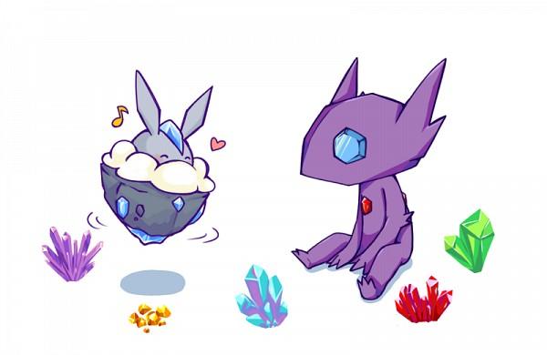 Tags: Anime, Pixiv Id 95314, Pokémon, Carbink, Sableye, Pixiv, Fanart, Fanart From Pixiv