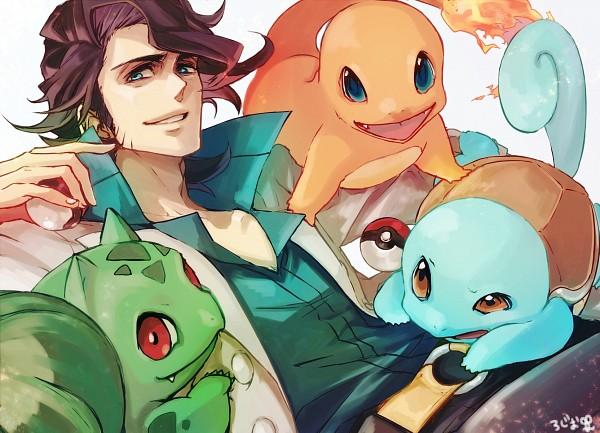 Tags: Anime, Pixiv Id 1758332, Pokémon, Bulbasaur, Charmander, Platane (Pokémon), Squirtle, Fanart, Pixiv, Fanart From Pixiv