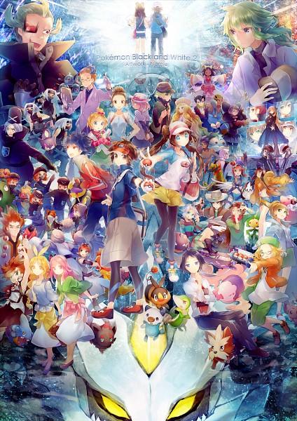 Tags: Anime, Namie-kun, Black and White 2, Pokémon, Bel (Pokémon), Magneton, Garbodor, Homika, Touko (Pokémon), Fuuro, Adeku, Zorua, Snivy