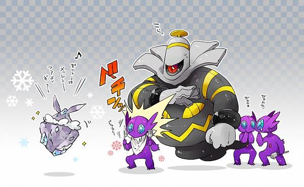 Tags: Anime, Pixiv Id 32530, Pokémon, Carbink, Sableye, Dusknoir, Pixiv, Fanart From Pixiv, Fanart