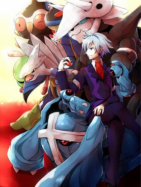 Tags: Anime, Pixiv Id 350255, Pokémon, Cradily, Beldum, Claydol, Metagross, Armaldo, Tsuwabuki Daigo, Skarmory, Aggron, Fanart, Pixiv
