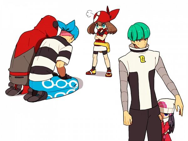 Tags: Anime, Onuko (Pixiv1861313), Pokémon, Team Aqua Underling (Male), Hikari (Pokémon), Team Galactic Underling (Male), Team Magma Underling, Haruka (Pokémon), Pixiv, Fanart From Pixiv, Fanart