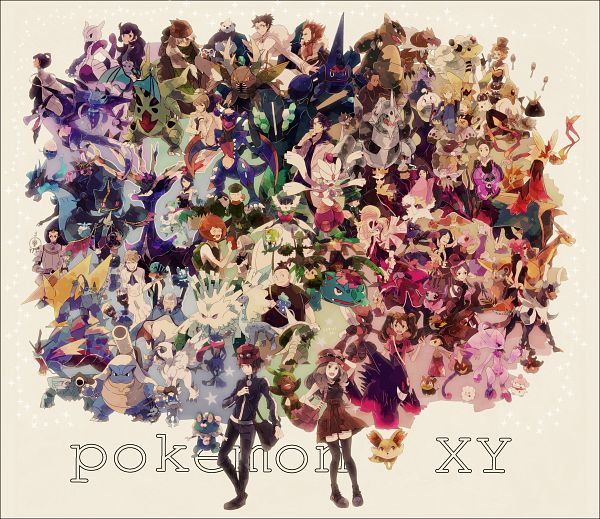Tags: Anime, Okii, Pokémon, Lucario, Fletchling, Aurorus, Eureka (Pokémon), Houndoom, Litleo, Sana (Pokémon), Corni, Kangaskhan, Dedenne