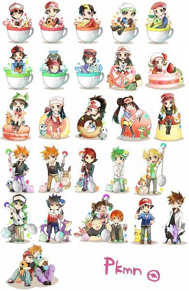 Tags: Anime, Pixiv Id 4594508, Pokémon, Chikorita, Snivy, Leaf (Pokémon), Serena (Pokémon), Treecko, Umbreon, Corphish, Silver (Pokémon), Hue, Jun (Pokémon)