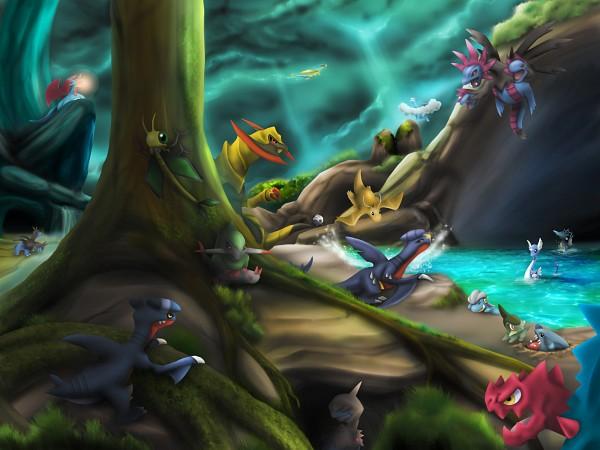 Tags: Anime, Pixiv Id 3570792, Pokémon, Fraxure, Dratini, Gabite, Axew, Druddigon, Kingdra, Bagon, Salamence, Deino (Pokémon), Dragonair