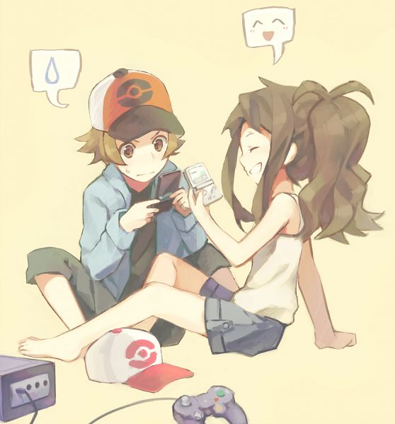 Tags: Anime, Weee (Raemz), Pokémon, Touko (Pokémon), Touya (Pokémon), Game Boy, Game Boy Advance, Nintendo Gamecube, Fanart From Pixiv, deviantART, PNG Conversion, Pixiv, Fanart From DeviantART
