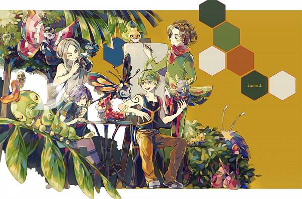 Tags: Anime, Yuuichi Bobobo, Pokémon, Venonat, Vivillon, Caterpie, Venipede, Arty (Pokémon), Beautifly, Dustox, Spinarak, Ryou (Pokémon), Weedle