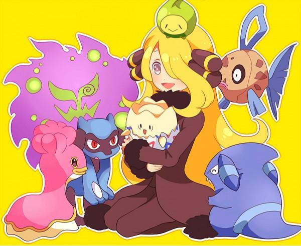 Tags: Anime, Ouri, Pokémon Diamond & Pearl, Pokémon, Riolu, Spiritomb, Shirona (Pokémon), Gible, Feebas, Budew, Shellos, Fanart, Pixiv