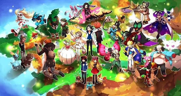 Tags: Anime, Kopiru, Pokémon, Fennekin, Fukuji (Pokémon), Vivillon, Aegislash, Pachira (Pokémon), Serena (Pokémon), Tyrunt, Carnet (Pokémon), Zakuro (Pokémon), Noivern