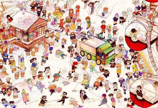 Tags: Anime, Gkanzh, Pokémon SPECIAL, Pokémon, Odamaki (Pokémon), Akane (Pokémon), Jupiter (Pokémon), Corn (Pokémon), Azami (Pokémon), Kris (Pokémon), Magikarp, Katsura (Pokémon), Adan
