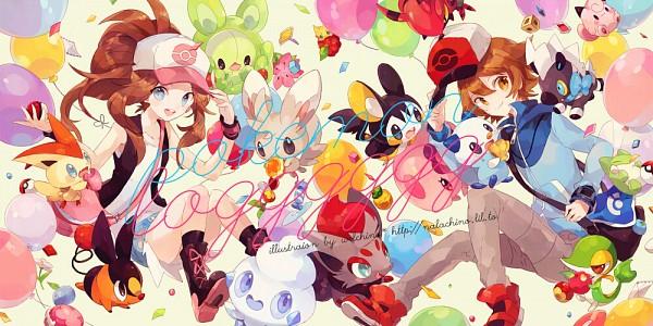 Tags: Anime, Welchino, Pokémon, Minccino, Vanillite, Zorua, Victini, Snivy, Cleffa, Venipede, Reuniclus, Oshawott, Touko (Pokémon)
