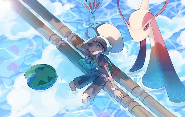 Tags: Anime, Pixiv Id 842378, Pokémon, Luvdisc, Lotad, Milotic, Yuuki (Pokémon), Soaking Feet, Fanart From Pixiv, Pixiv, Fanart
