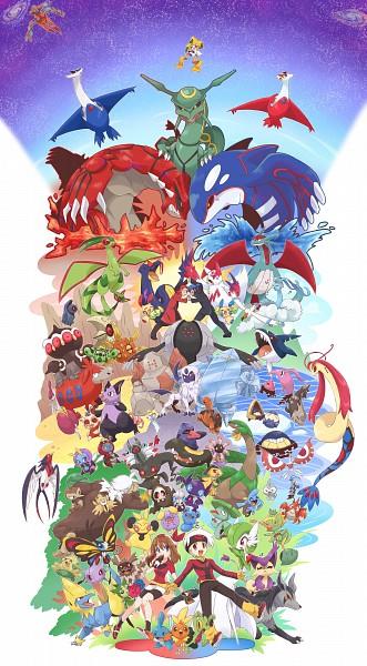 Tags: Anime, Bano Akira, Pokémon, Shroomish, Mudkip, Torchic, Manectric, Cascoon, Azurill, Shedinja, Haruka (Pokémon), Roselia, Beautifly