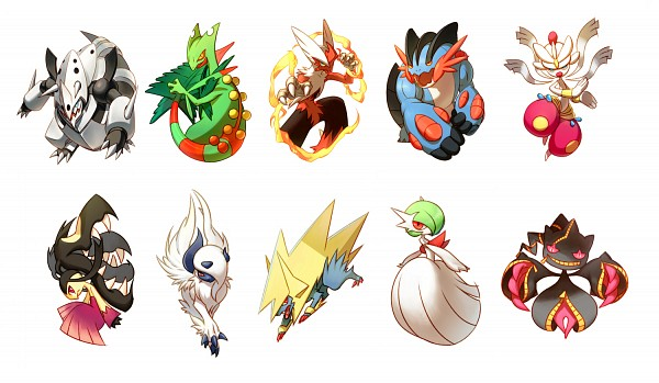 Tags: Anime, Pixiv Id 10690491, Pokémon, Absol, Mawile, Swampert, Medicham, Sceptile, Manectric, Blaziken, Aggron, Banette, Gardevoir