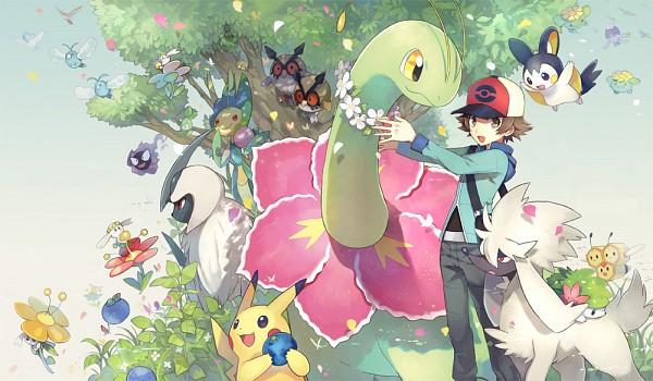 Tags: Anime, Akira Hou, Pokémon, Meganium, Petilil, Flabébé, Shaymin, Combee, Gastly, Emolga, Altaria, Burmy, Drifblim
