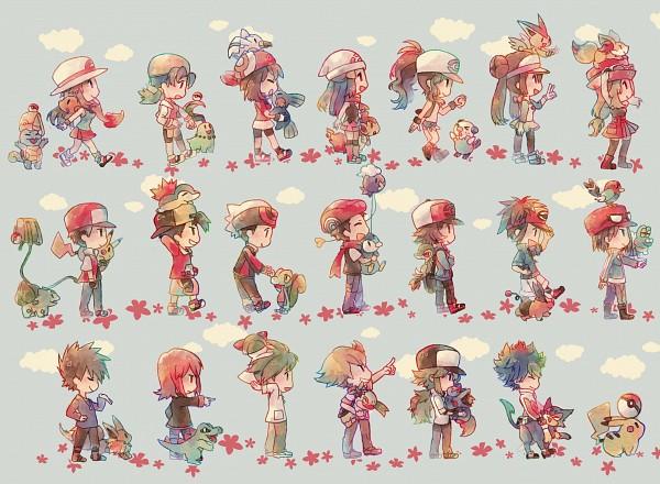 Tags: Anime, Syerii, Pokémon, Totodile, Fennekin, Yuuki (Pokémon), Kyouhei, Charmander, Leaf (Pokémon), Fletchling, Chimchar, Piplup, Mitsuru (Pokémon)