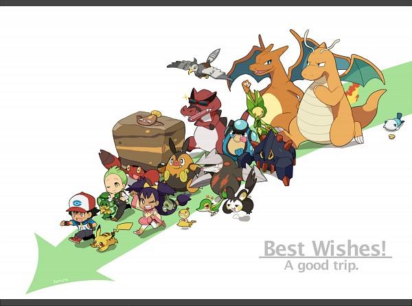 Tags: Anime, remotarou, Pokémon, Charizard, Palpitoad, Crustle, Pansage, Pignite, Satoshi (Pokémon), Excadrill, Dento (Pokémon), Unfezant, Pikachu