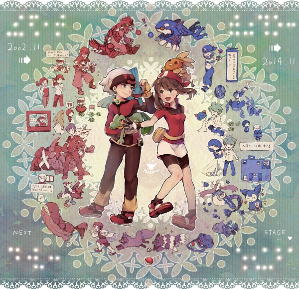 Tags: Anime, Syerii, Pokémon, Wailmer, Reporter (Pokemon), Treecko, Ralts, Yuuki (Pokémon), Skitty, Odamaki (Pokémon), Torchic, Wailord, Mudkip