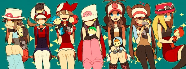 Tags: Anime, Onuko (Pixiv1861313), Pokémon, Haruka (Pokémon), Plasma-dan Shitappa (Male), Team Rocket Underling (Male), Hikari (Pokémon), Serena (Pokémon), Touko (Pokémon), Team Magma Underling, Leaf (Pokémon), Team Aqua Underling (Male), Mei (Pokémon)