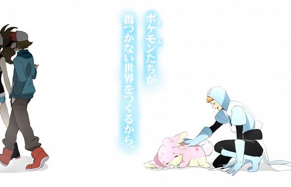 Tags: Anime, Onuko (Pixiv1861313), Pokémon, Touko (Pokémon), Plasma-dan Shitappa (Male), Audino, Touya (Pokémon), Fanart From Pixiv, Pixiv, Translation Request, PNG Conversion, Fanart
