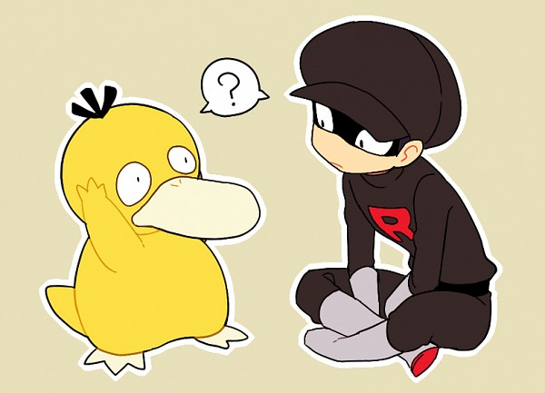 Tags: Anime, Onuko (Pixiv1861313), Pokémon, Psyduck, Team Rocket Underling (Male), Pixiv, Fanart From Pixiv, Fanart, PNG Conversion