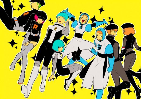 Tags: Anime, Onuko (Pixiv1861313), Black and White 2, Pokémon, Plasma-dan Shitappa (Male), Team Rocket Underling (Female), Plasma-dan Shitappa (Female), Team Rocket Underling (Male), Team Galactic Underling (Female), Team Galactic Underling (Male), Fanart From Pixiv, PNG Conversion, Pixiv