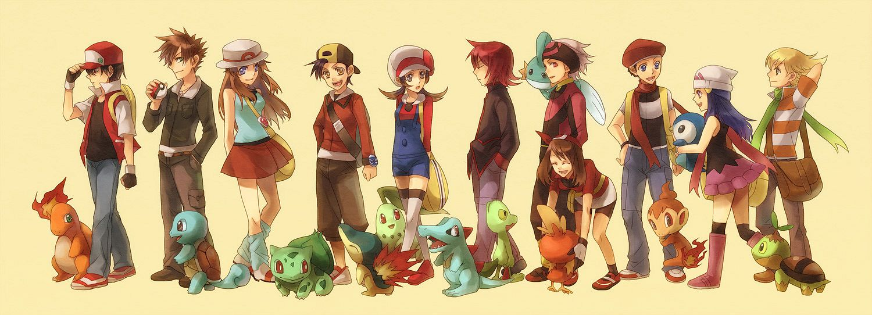 Tags: Anime, Shion (Kizuro), Pokémon, Piplup, Silver (Pokémon), Turtwig, Charmander, Green (Pokémon), Hikari (Pokémon), Kotone (Pokémon), Yuuki (Pokémon), Mudkip, Leaf (Pokémon)